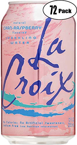 La Croix Crans-Raspberry Naturally Essenced Flavored Sparkling Water, 12 oz Can (Pack of 20, Total of 240 Oz) by La Croix