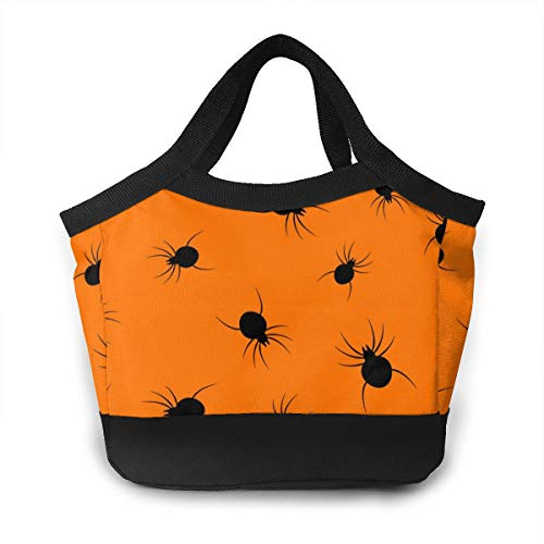 YZWbag Halloween Spider Men & Women Waterproof Lunch Bag 8.5x8.5x4.6inch Insulated Lunch Tote Cooler Cooling Bags Boxes for Work Office Picnic Beach,Lunch Bag]()