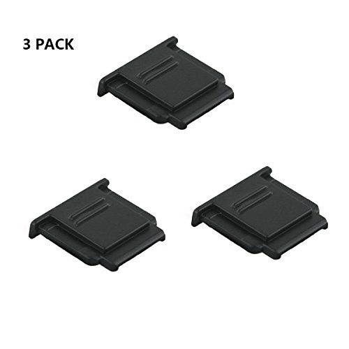 (3 Pack) LXH Sony Hot Shoe Cover Protector Shoe Mount for Sony a9 a77II a7riii a7S a3500 a3000 a6300 a6500 a6000 a7 a7R NEX-6 a58 a99 RX100II RX1R RX10III RX10II RX1 Replaces Sony FA-SHC1M Shoe Cover