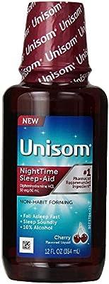 Unisom Nighttime Sleep Aid Liquid, Cherry 12 oz