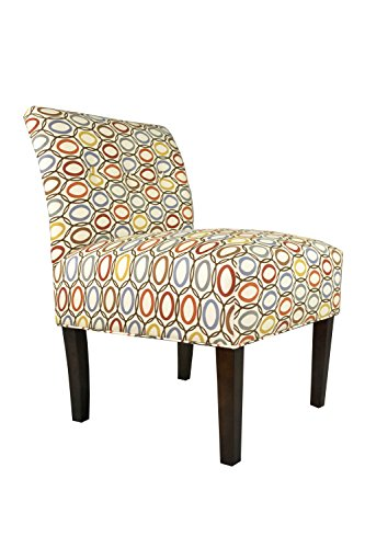 MJL Furniture Designs Samantha Collection Fabric Upholstered Button Tufted Living Room Accent Guest Chair, Coll-Vera Series, Harvest