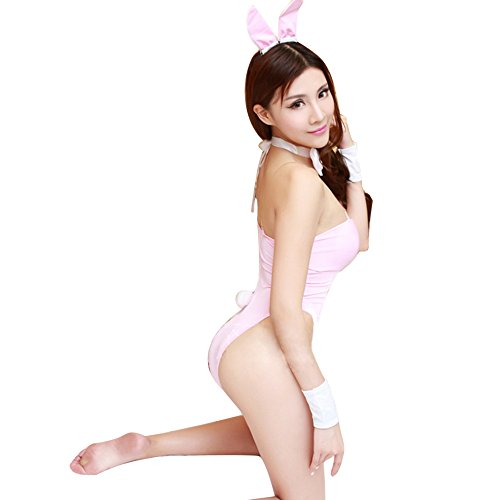 GoldWish Lingerie Sweet Bunny Costumes Ball DJ Bar Show Bunnies Uniform Teddy (Pink) (Sexy Bunny Lingerie)