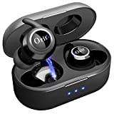 Wireless Bluetooth Earbuds 5.0, in-Ear Noise Reduction Headphones with Strong Connection TWS Mini Earphones Magnetic Charging Case and Removable Earhooks for Workout Compatible with Cell Phones