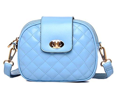 Women's Cross TianHengYi Body Quilted Small Leather Blue Shoulder Sythetic Bag Satchel Purse Diamond Handbag Cr6z58xrn