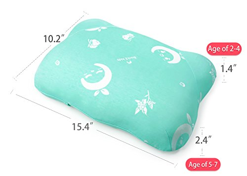 Toddler Pillow for Sleeping, Small Nap Pillow for Kids Travel Size 15'' x 10'' (Green) by Restcloud (Image #2)