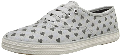 Keds Women's Taylor Swift Champion Hearts Fashion Sneaker,Gray,5 M US