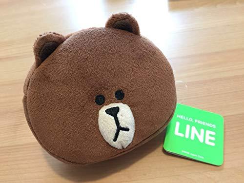 LINE ブラウン ポーチ 小物入れ ぬいぐるみ コニー ムーン LINE FRIENDS マスコット 化粧ポーチ 茶色