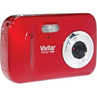 Vivitar ViviCam 7028 - Digital camera - compact - 7.1 Mpix - supported memory: SD, SDHC - strawberry