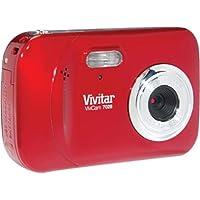 Vivitar ViviCam 7028 - Digital camera - compact - 7.1 Mpix - supported memory: SD, SDHC - strawberry