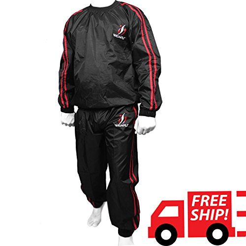 Heavy Duty Sweat Sauna Suit Gym Exercise Suit Fitness Weight Loss Sweating Track Suit Fitness Suit (3XL)