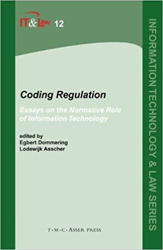 Coding Regulation Essays On The Normative Role Of Information  Coding Regulation Essays On The Normative Role Of Information Technology Information  Technology And Law Series St Edition