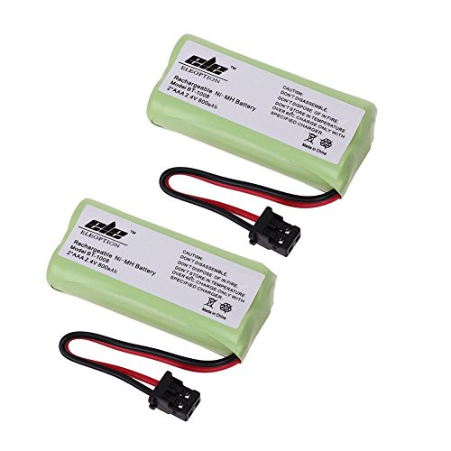 Price comparison product image TOPCHANCES 2 Pack 2AAA 2.4V 800mAh Ni-MH Cordless Handset Rechargeable Replacement Battery for Uniden BT-1008 BT1008 BT-1008S BT1008S BT-1016 BT1016 BT-1021 BT-1025