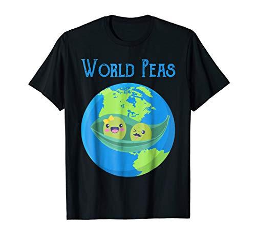 World Peas - World Peas (Peace) Give Peas A Chance T Shirt Earth Day Tee