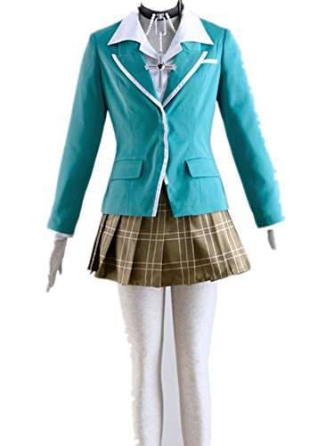 Rosario Vampire Costume (Japanese Anime Rosario and Vampire Cosplay Costume - Moka Akashiya 5Pcs Set)