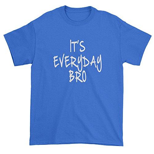 White T-shirt Bro (Expression Tees Mens (White Print) It's Everyday Bro T-Shirt Large Royal Blue)