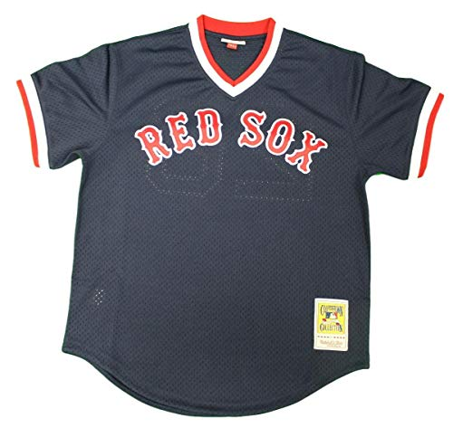 Mitchel Ness Wade Boggs Boston Red Sox 1992 Authentic Cooperstown Collection Batting Practice Jersey Navy Blue (Mlb Jersey Batting Practice Authentic)