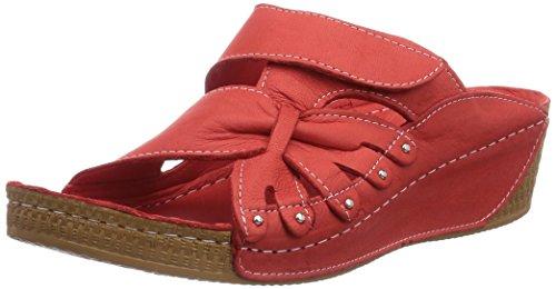Andrea Conti 0779208021 Damen Pantoletten Rot (rot 021)