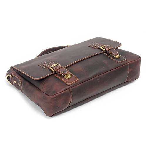 Business Handbag First Notebook Casual Suitable Satchel Section Qi Bag The Cross Layer Bag For Business Briefcase Vintage Of Men's Men Leather UUO0qa