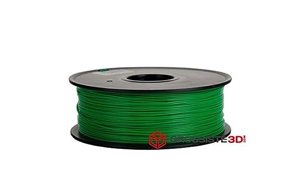 Filamento PLA 3.00 mm 3d color verde inalámbrico 3d Printer ...
