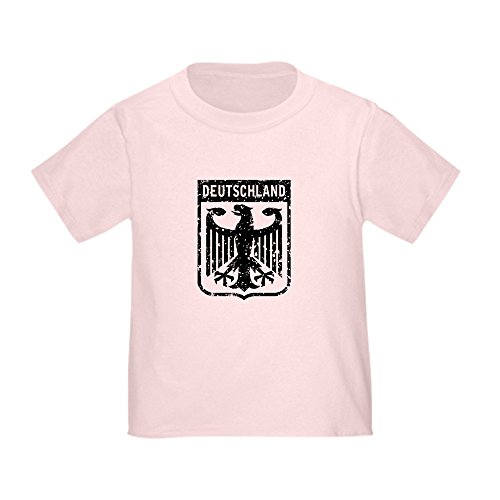 CafePress Deutschland Coat of Arms Toddler T-Shirt Cute Toddler T-Shirt, 100% Cotton Pink