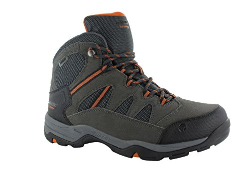 Hi Tec Herren Bandera II Waterproof Mid Boot Kohle / Graphit / Burnt Orange
