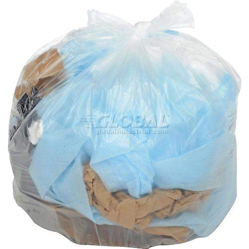 Global Industrial Light Duty Natural Trash Bags - 20 to 30 Gal, 0.35 Mil, 500 Bags/Case (2 ()