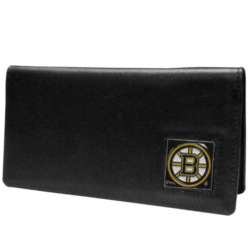 NHL Boston Bruins Executive Genuine Leather Checkbook Cover Boston Bruins Money Clip