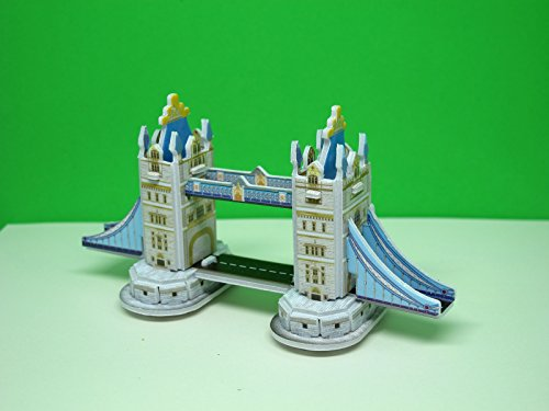 Mini 3D Puzzles Architecture 'Tower Bridge' Easy for Baby 3 Years and more Mini Size 4.5
