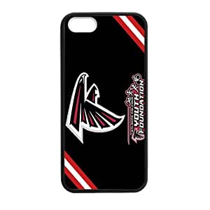 Red and White Chevron Black background Coolest Atlanta Falcons Iphone 5s Case Cover Shell (Laser Technology) by icecream design