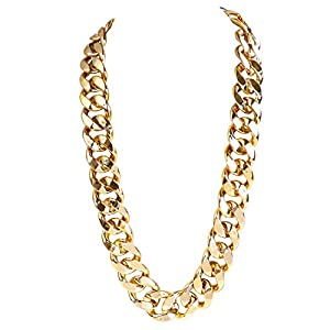 Olgaa Big Hip Hop Chain Necklace,90s Chunky Style Necklace,36 Inch