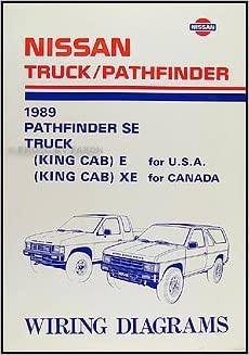 1989 Nissan Truck and Pathfinder Wiring Diagram Manual ... on