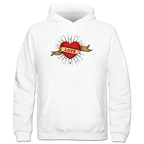 Shirtcity Love Old School Tattoo Kids' Hoodie 116 White