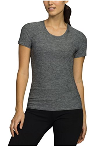32 Degrees Cool Womens Short Sleeve Tee Scoop Neck Shirt Black Space Dye - Shopping Galleria Online