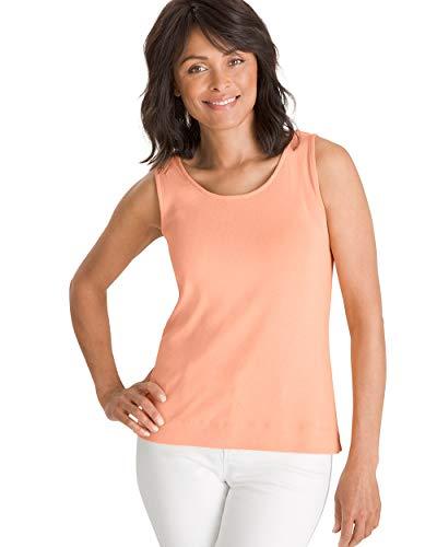 Chico's Women's Supima Cotton Convertible Tank Size 16/18 XL (3) Orange