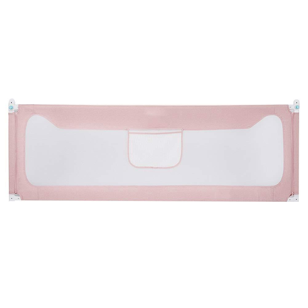 ベッドレールベビーガードレール長方形の構造鋼管材料 綿、3色、2サイズ (Color : Pink, Size : 120x92cm) 120x92cm Pink B07SNFC2JY