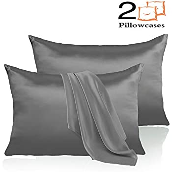 Amazon Com Adubor Satin Pillowcase 2 Pack Silky Pillow