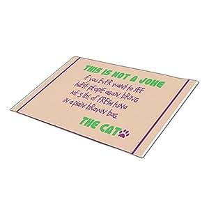 MemoryBB Monogrammed Door Mat Outdoor Doors Pet Humor Blank One size