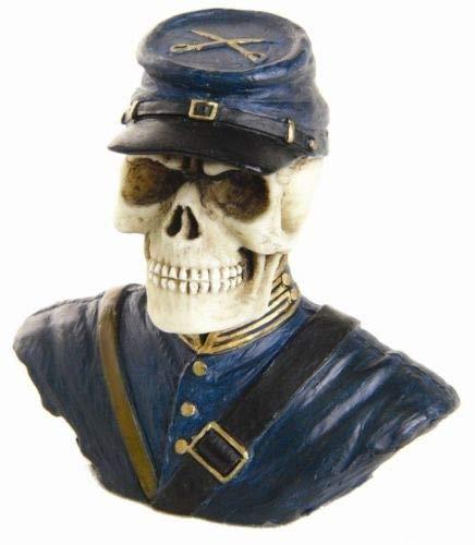 Figurine Rare Miniature Skeleton Us North Civil War General Soldier Statue Cute ()