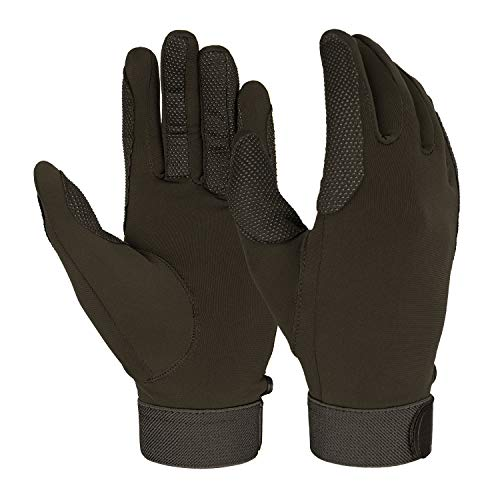 - FitsT4 Horse Riding Gloves Equestrian Outdoor Breathable Stretchable Horse Glove for Women Men Brown L