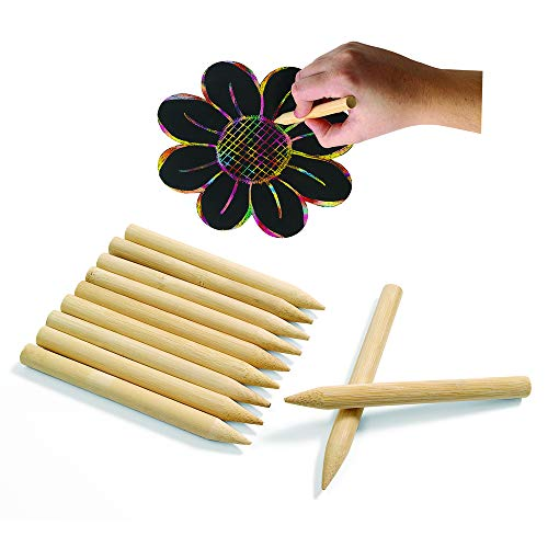 Colorations SDJPEN Scratch Designs Jumbo Wooden Art Sticks 8 (Pack of 48)
