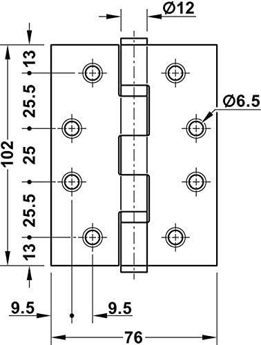 Startec DHB 3222 T/ürband f/ür ungef/älzte Innent/üren Tragkraft 120 kg Gedotec T/ürscharnier Edelstahl matt Aufschraubband f/ür Zimmert/üren /& Tore Schwerlast-Scharnier T/ür mit Schrauben 1 St/ück