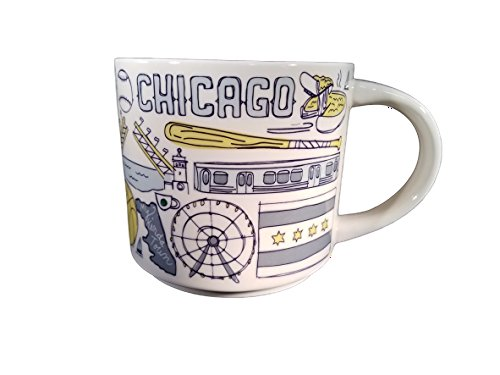 Starbucks Chicago Been There Series Ceramic Coffee Mug, 14 oz