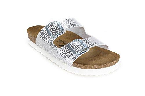 Sandals Footbed JOE JOYCE Leowhite N Soft London SynSoft BXXwZYq