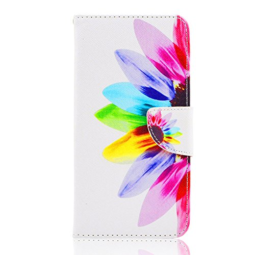 iPhone 6 Case,iPhone 6S Case,JanCalm [Kickstand] Pattern Premium PU Leather Wallet [Card/Cash Slots] Flip Case Cover for iPhone 6/6S + Crystal Pen (Flower)