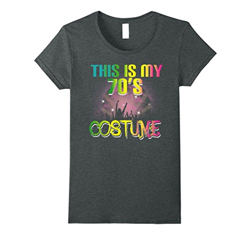 Womens This Is My 70s Costume Halloween T Shirt 1970s Gift Tees Large Dark Heather
