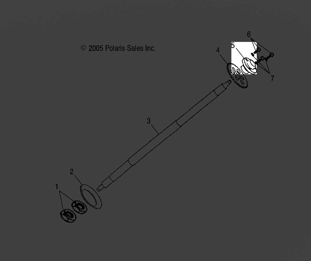 Polaris HUB-SPROCKET,DRIVE