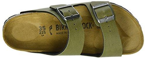 Birkenstock Arizona Birko-flor - Mules Unisex adulto Grün (Pull Up Olive)