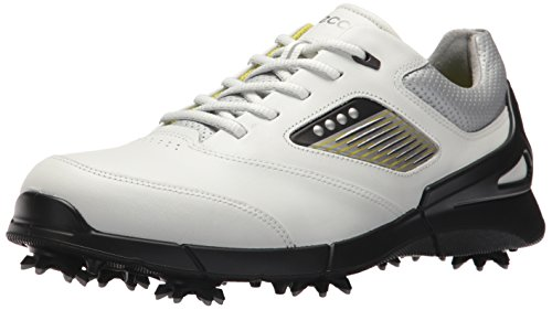 (ECCO Men's Base One Golf Shoe, White/Black Hydromax, 11 M US)