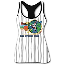 RETHYJU Space Force Women's Summer Casual Vest Workout T Shirt Sleeveless - Racerback Tank Tops for Womens