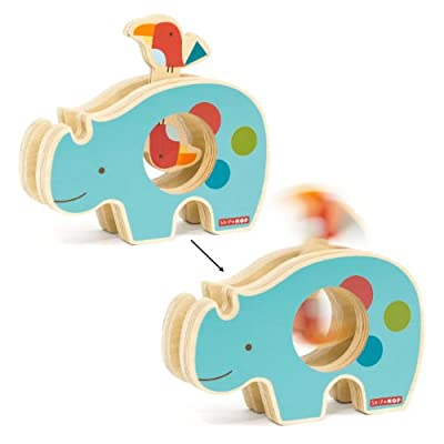 Skip Hop Giraffe Safari Spin and Play, Rhino, 12 Months Plus : Baby Shape And Color Recognition Toys : Baby